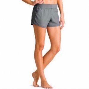 Athleta   Gray Go The Distance Athletic Shorts XS